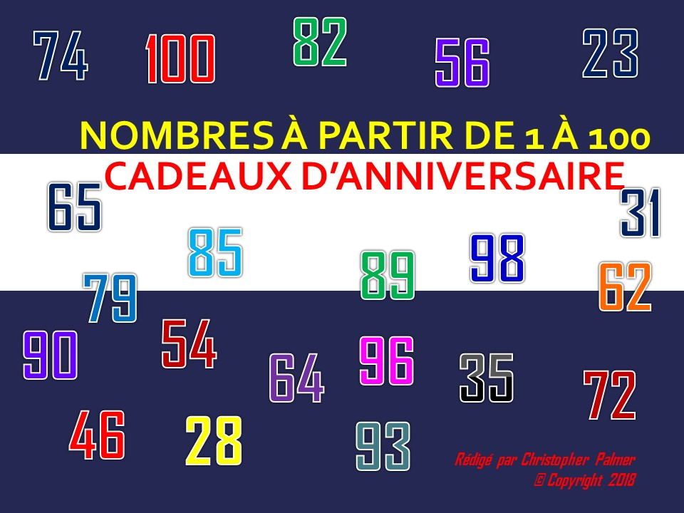 French: Numbers 1-100