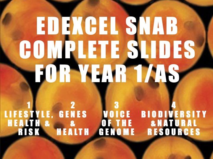Edexcel SNAB Topics 1-4 complete slides