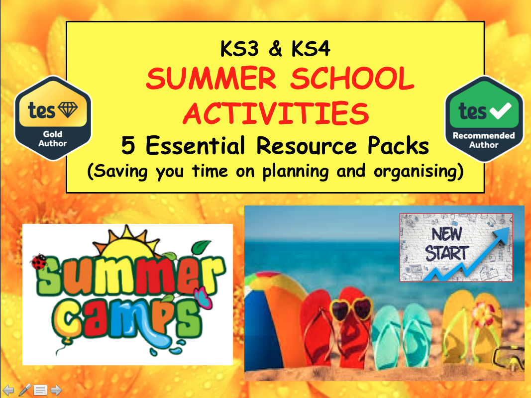 Summer School Activities - Team Building - Life Skills PSHE CITIZENSHIP