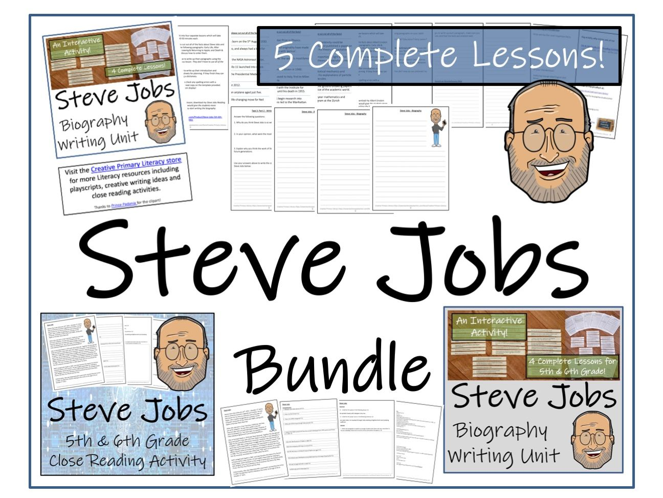 UKS2 Literacy - Steve Jobs Reading Comprehension & Biography Bundle