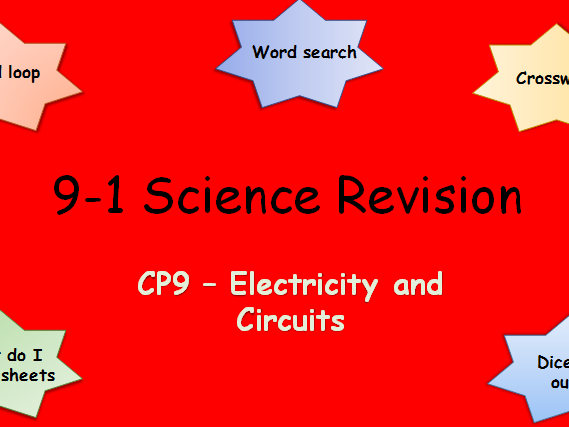 Edexcel CP9 Electricity and Circuits Revision pack Science 9-1