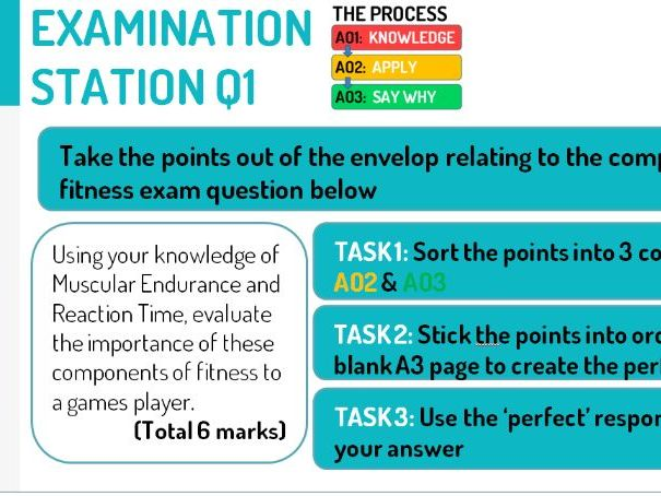 ADAPTED NEW - EXAM TECHNIQUE - GCSE PE AQA (9-1) Exam prep -how to answer extended answer questions