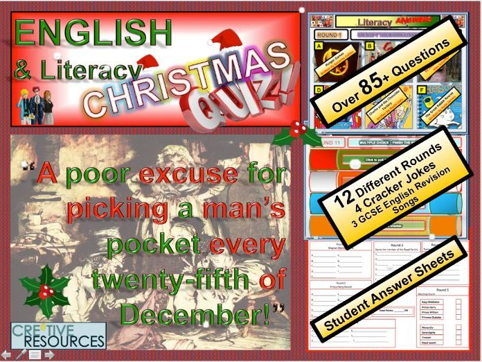 English Christmas Quiz 2018 by thecre8tiveresources - Teaching Resources - Tes