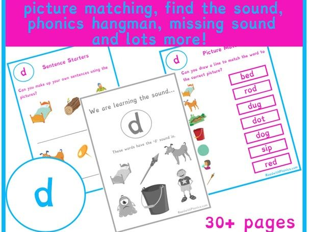 d' Sound Phonics Bundle | Phonics Resources | Phonics ...