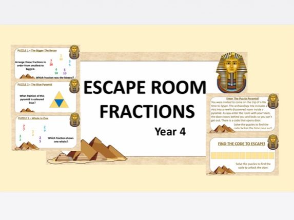 Maths Escape Room: Fractions Y4 (White Rose Hub)
