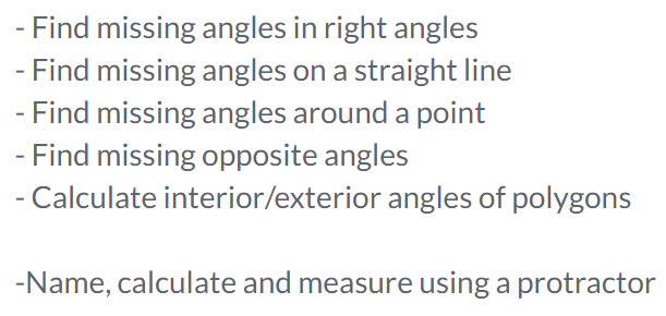 Name calculate and measure angles around a point differentiated – Measuring Angles Worksheet Pdf