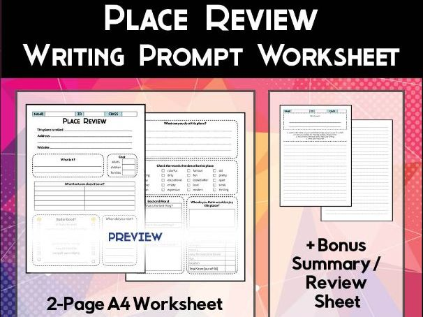 Place Review Worksheet