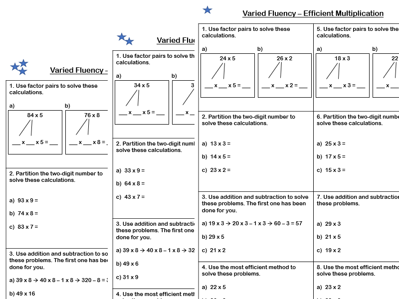 White Rose Maths - Year 4 - Spring Block 1 - Efficient Multiplication (Varied Fluency)