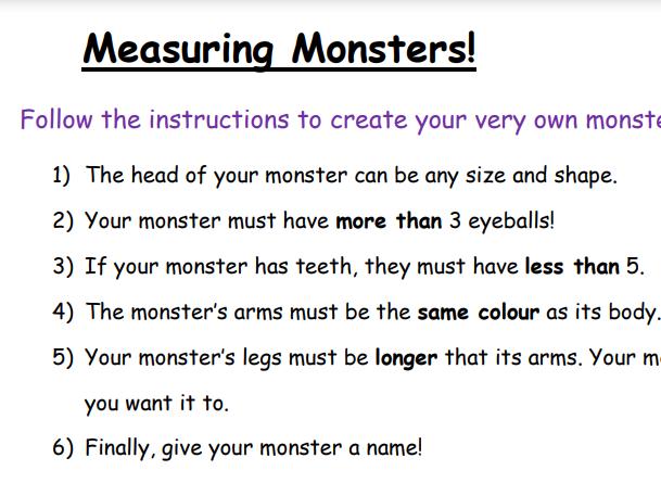 Measuring monsters - KS1