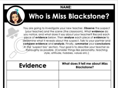First Day of School - Who is your teacher? Worksheet