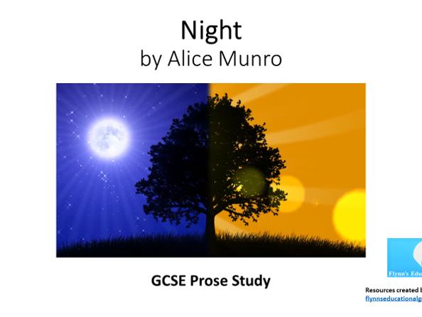 GCSE Prose Study:  'Night' by Alice Munro