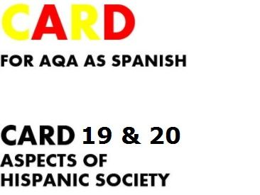 SPEAKING CARDS FOR AQA A-LEVEL SPANISH  (AS new specification)