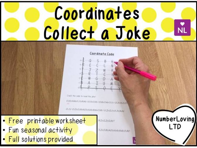 Coordinates: Coordinate Code (Collect a Joke Worksheet)