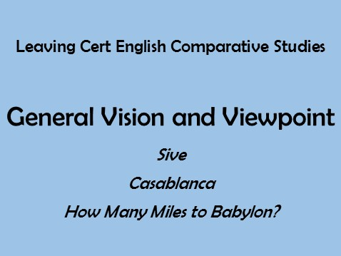 how many miles to babylon general vision and viewpoint