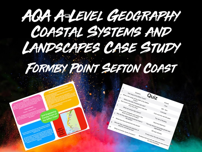 AQA A-Level Geography Coastal Systems and Landscapes Formby Point of the Sefton Coast with Quiz