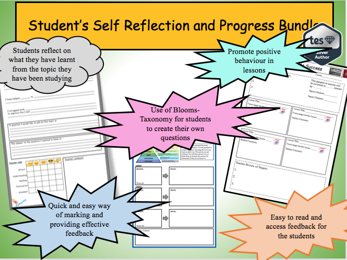 Students Self Reflection and Progress Bundle – cut down your marking