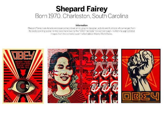 Street Artists Research - Jean-Michel Basquiat, Jon Burgerman, Mr. Brainwash and Shepard Fairey