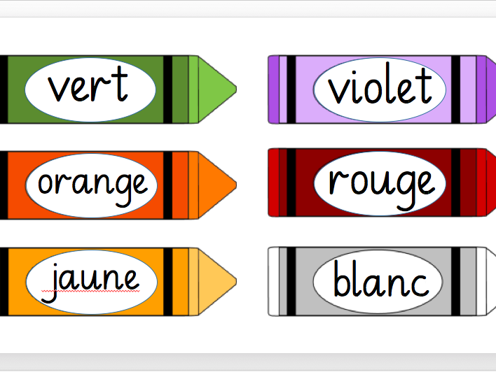 French Colours Display