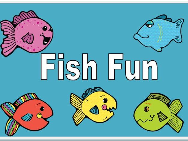 Fish Fun Cards to Match and Colour