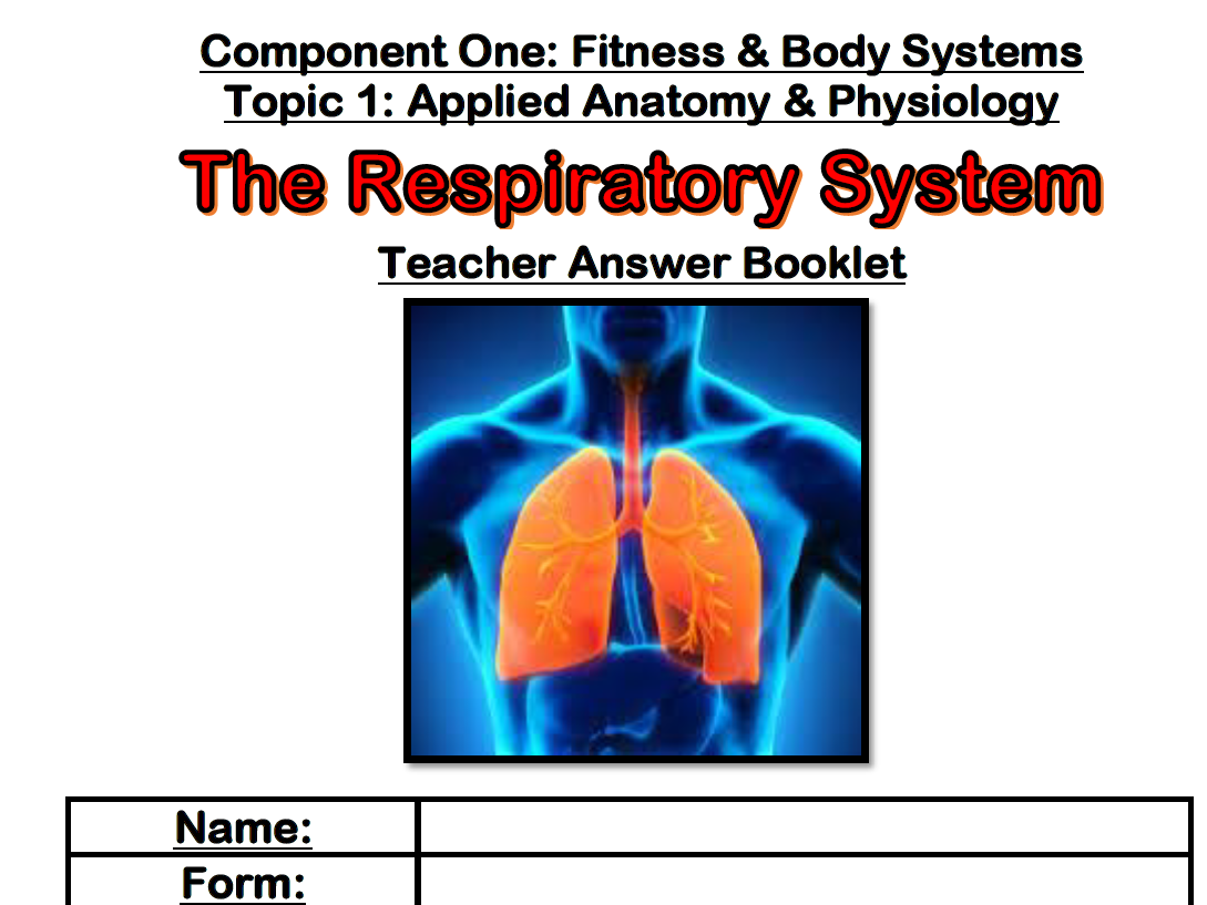 Edexcel 9-1 GCSE PE - The Respiratory System Topic Mind Map by ...