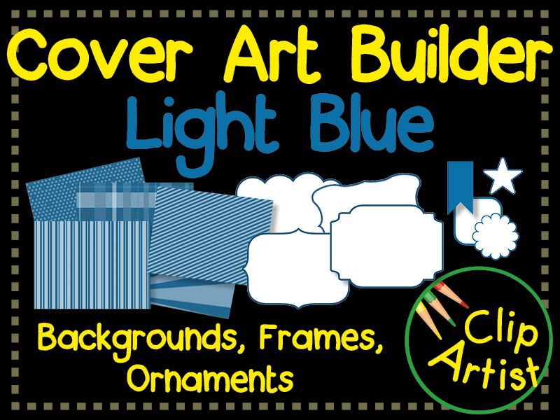 Cover Builder for Authors and Presentations - Light Blue