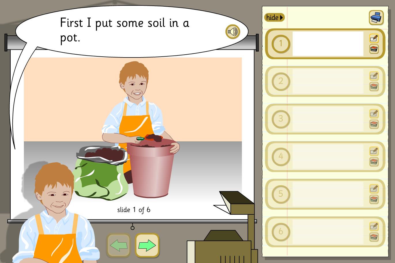 Create a Presentation Activity - Growing a Bean - KS1 Literacy