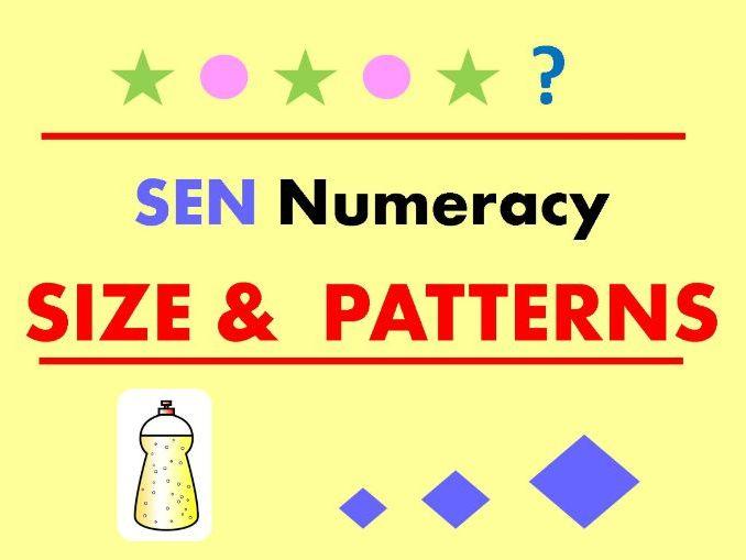 SEN Numeracy - SIZE & PATTERNS