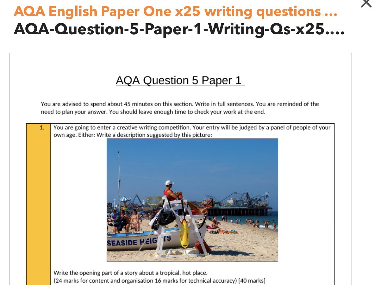 AQA English Language Key Revision