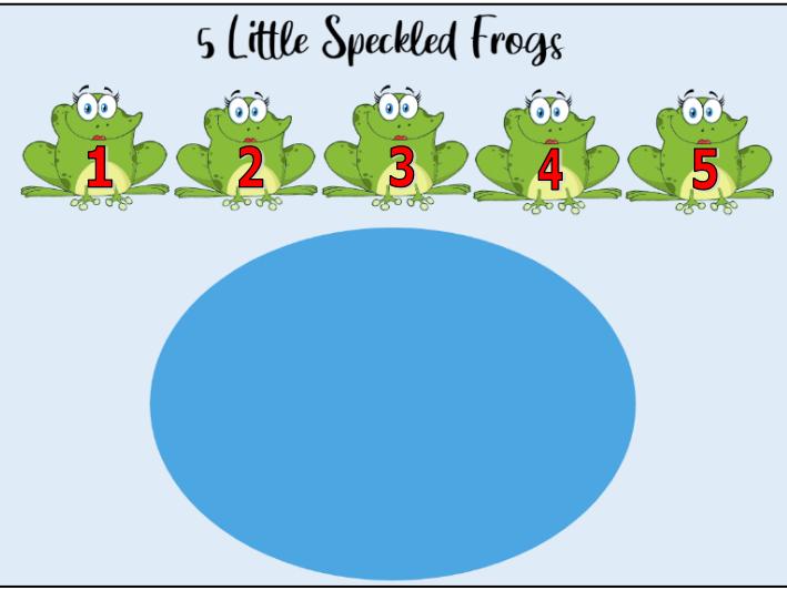 5 Little Speckled Frogs Worksheets