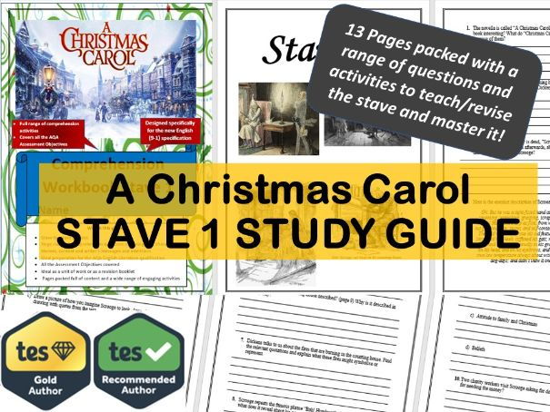 Stave 1. A Christmas Carol Study and Revision Guide by ajs12345 - Teaching Resources - Tes