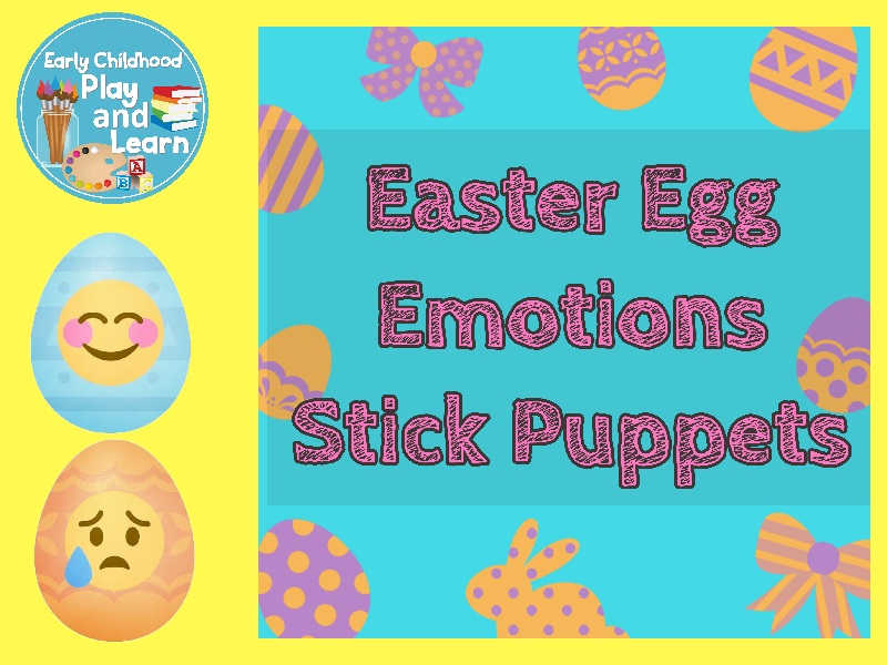 Easter Egg Emoji Stick Puppets