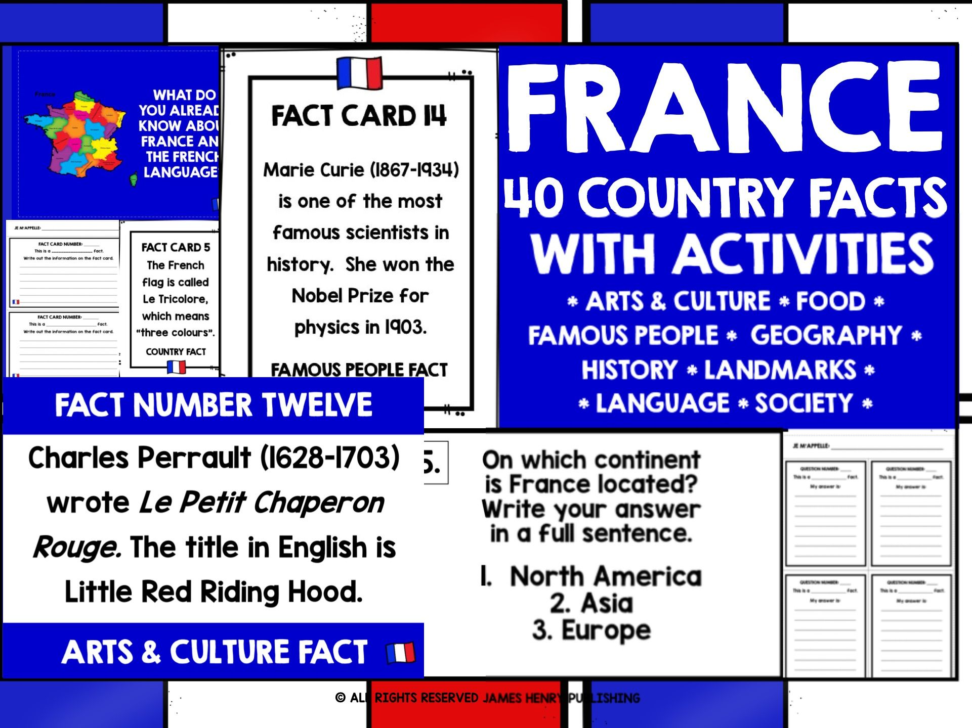 PRIMARY FRENCH FACTS ABOUT FRANCE MINI-BUNDLE #1