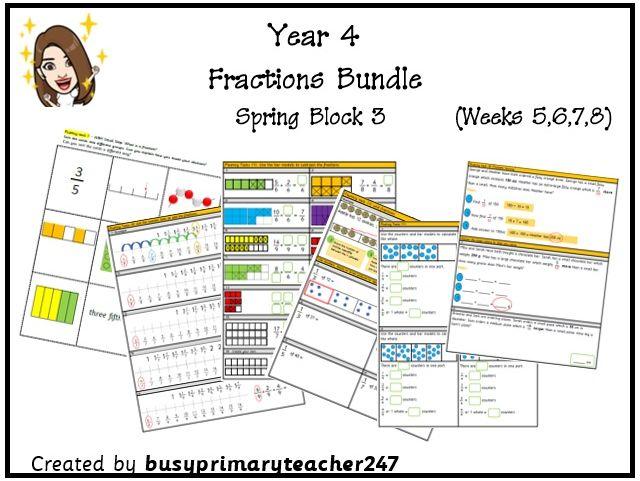 Year 4 Fractions Bundle
