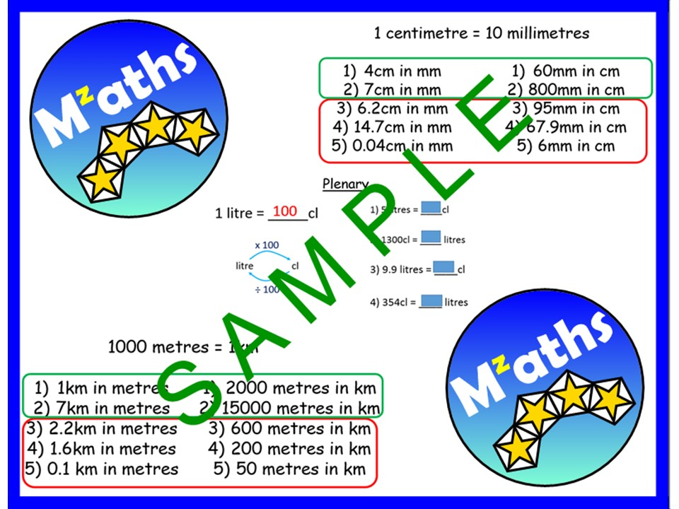 Conversions - KM/M/CM/MM