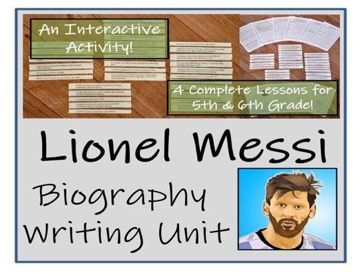 UKS2 Literacy - Lionel Messi Biography Writing Unit