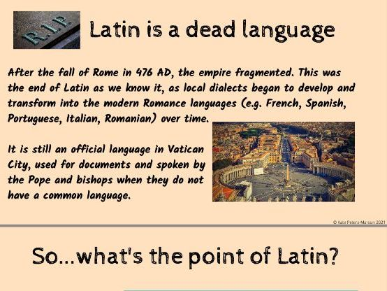 Introduction to Latin Powerpoint and Worksheet