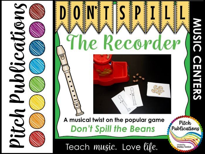 Music Center: Don't Spill the Recorder! - Recorder Fingerings Music Game
