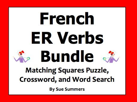 French ER Verbs Puzzle Bundle