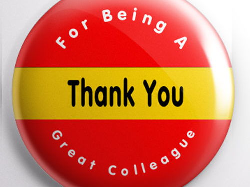 Teacher Badge - Thank You For Being a Great Colleague