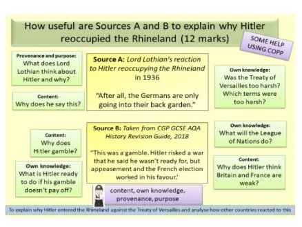 AQA GCSE 9-1 Conflict and Tension 1918-1939: Hitler's reoccupation of the Rhineland