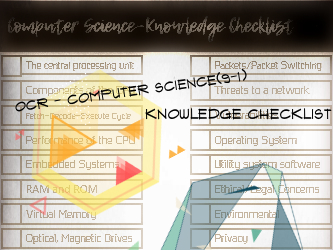 GCSE - Computer Science (9-1) - OCR - Knowledge Checklist