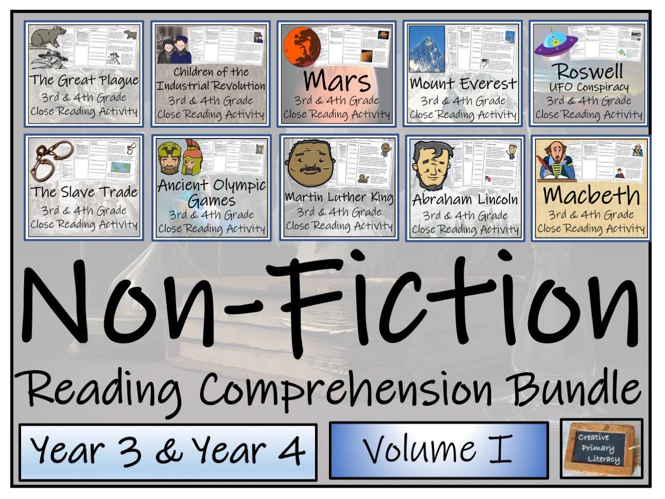 LKS2 Non-Fiction Volume I Reading Comprehension Activity Bundle