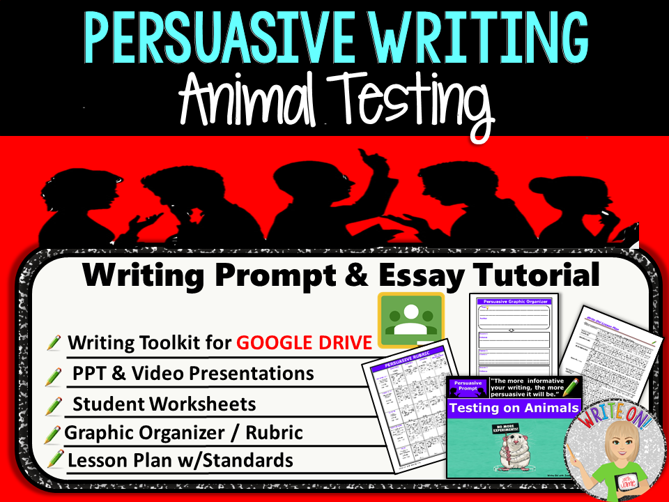 Persuasive Writing Lesson  Prompt  Digital Resource  Animal  Cover Image