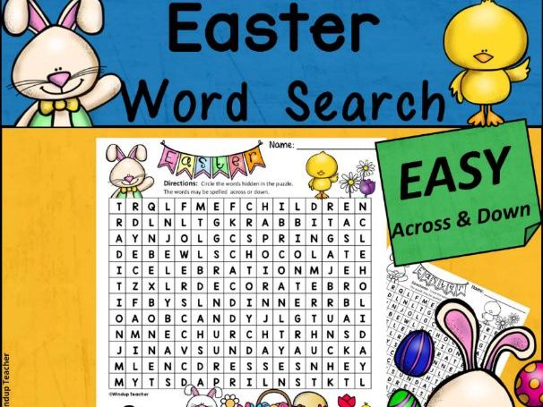 Easter Word Search | EASY