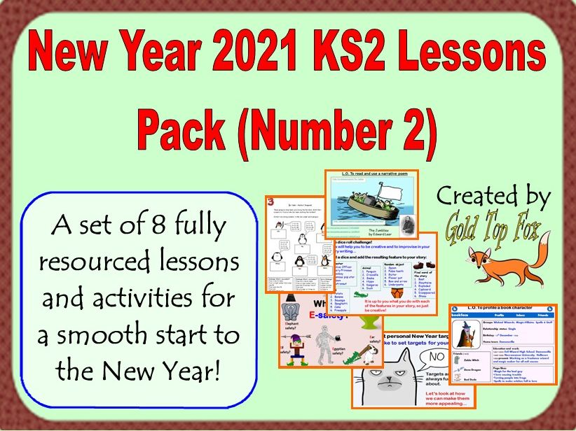 New Year 2021 KS2 Lessons Pack (Number 2)