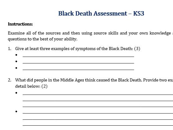 Black Death Assessment