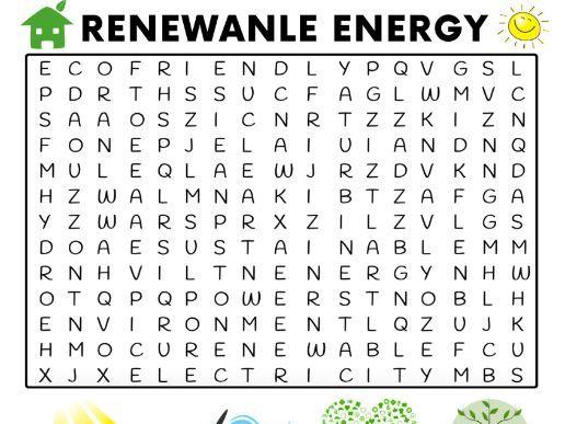 Renewable Energy Word Search