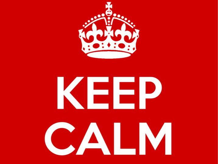 Keep Calm Worksheet