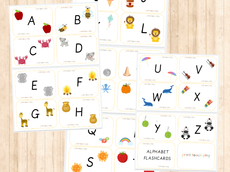 Alphabet Flash Cards - Capitals