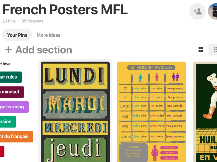 French Posters and Classroom Display Pinterest Board